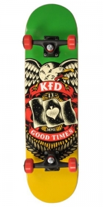 "KFD Young Gunz Deskorolka | 7.825"" Badge Rasta"