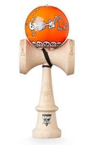 KROM Kendama x Jody Barton | Skeletons Orange