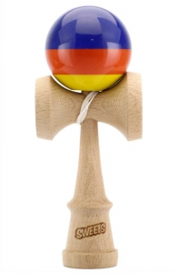 Sweets Kendama Prime Stripes Fiesta | Sticky Clear