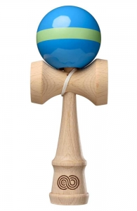 Kaizen 1.0 Kendama Single Stripe | Aqua & Lime Green
