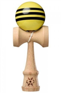 Tribute Kendama Triple Stripe | Yellow Black
