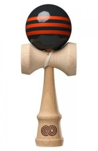 Kaizen 1.0 Kendama Triple Striple | Charcoal  & Orange